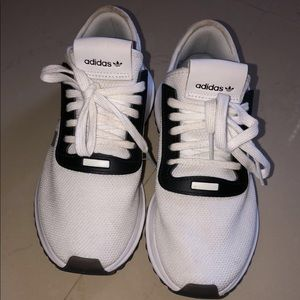 White Adidas Running Shoes